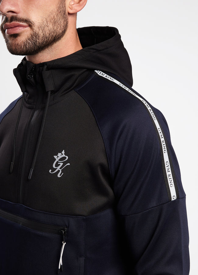 Gym King Lombardi Poly 1/4 Zip - Navy/Black