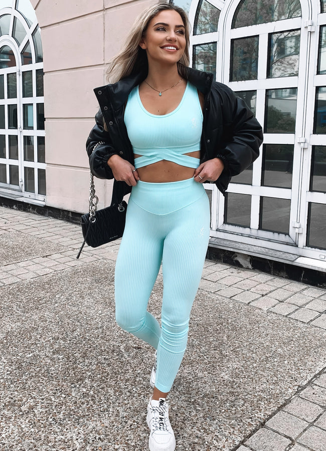 Gym King Sport Balance Rib Legging - Mint