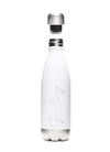 Gym King Stainless Steel Water Bottle - White/Silver