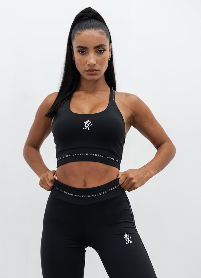 Gym King Sport Taped Bra - Black