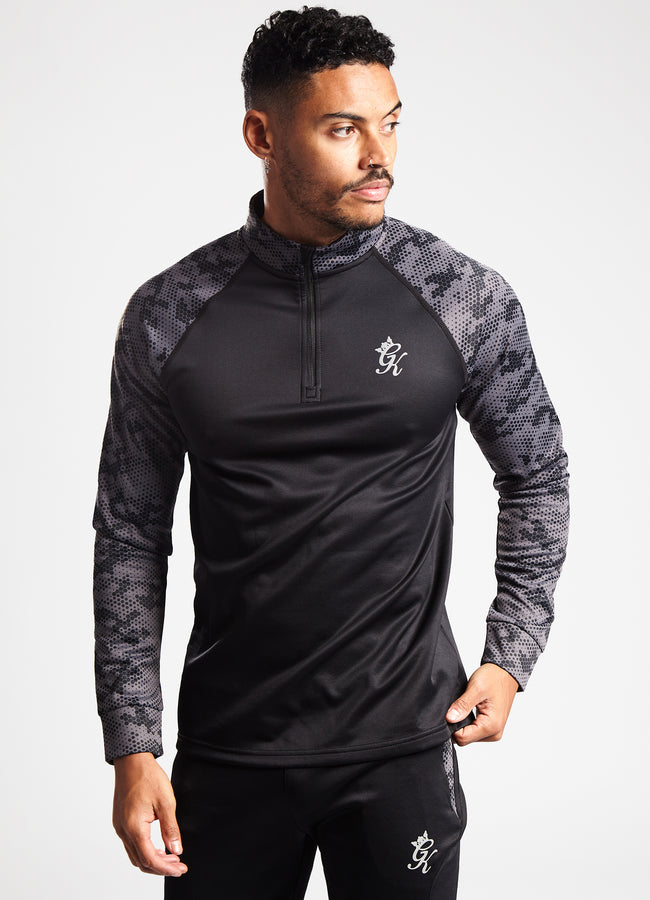Gym King Sport Mission 1/4 Zip - Camo/Black