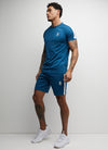 Gym King Core Plus Poly Tee - Blue