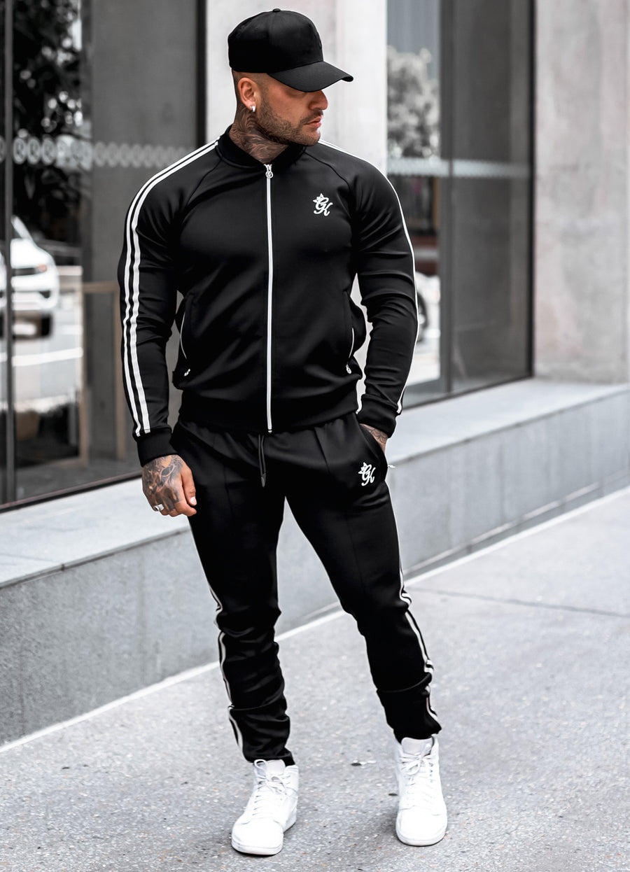 Gym King Taped Poly Jogger - Black