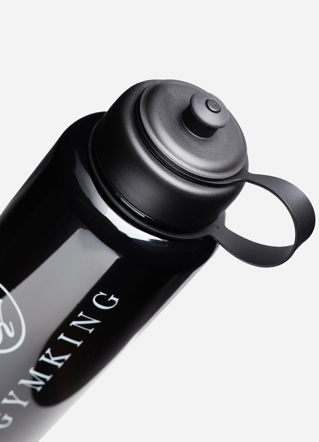 Gym King Sports Water Bottle - Black