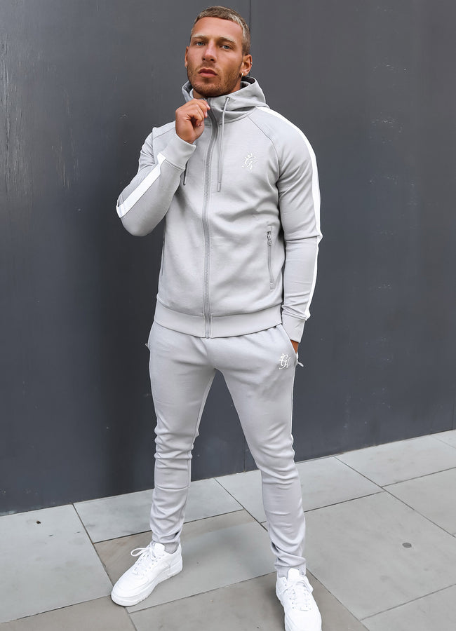 Gym King Basis Poly Tracksuit Bottoms - Grey Marl