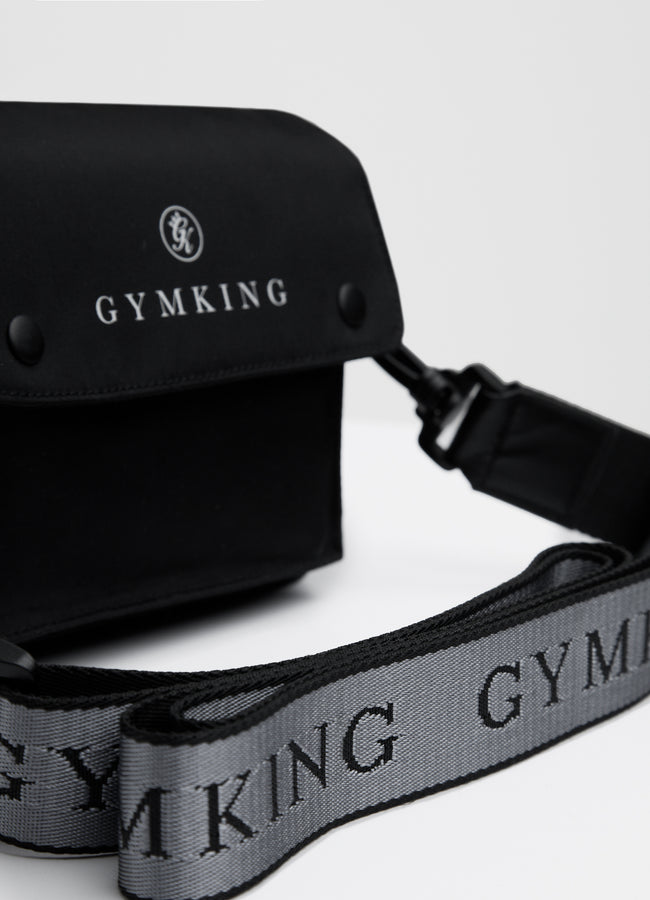 Gym King Compact Cross Body Bag - Black/White