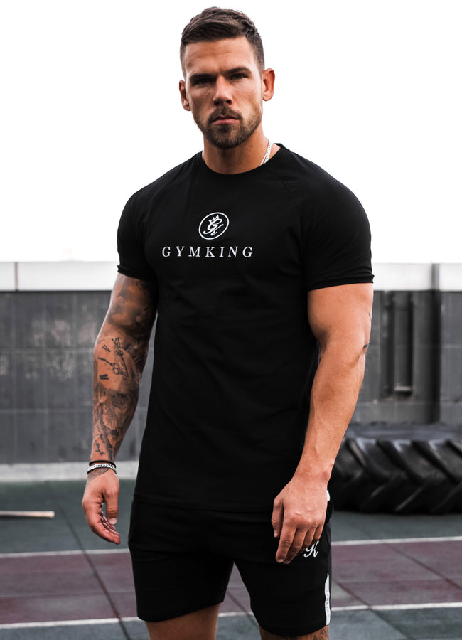 Gym King Sport Pro Logo Tee - Black