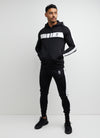 Gym King Retro Panel Tracksuit Top - Black/White
