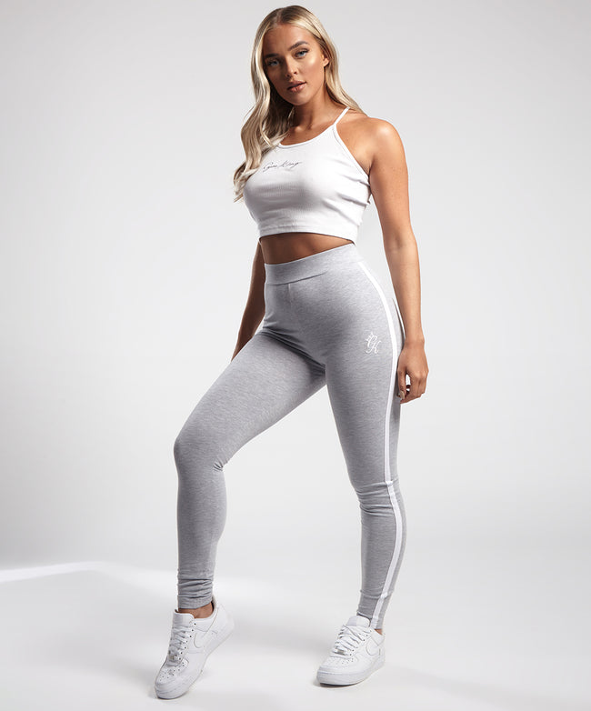 Gym King Linear Legging - Grey Marl