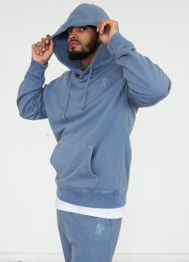 Gym King Basis Oversized Hood - River Blue