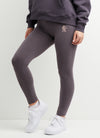 Gym King Script Legging - Slate/Peach