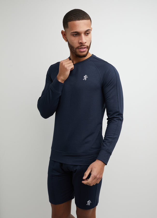 Gym King Signature Crew Sweat - Dark Navy