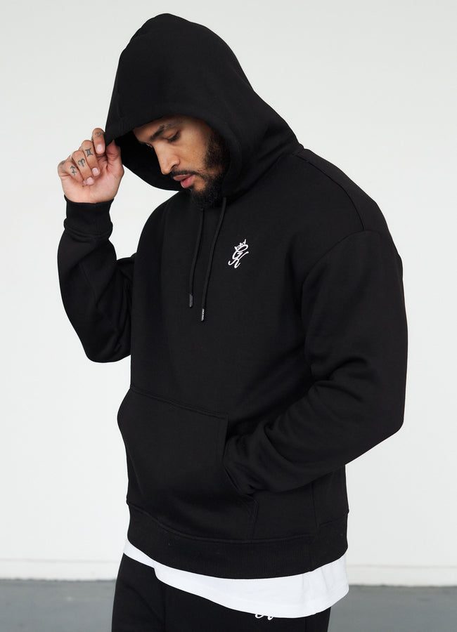 Gym King Basis Oversized Hood - Black