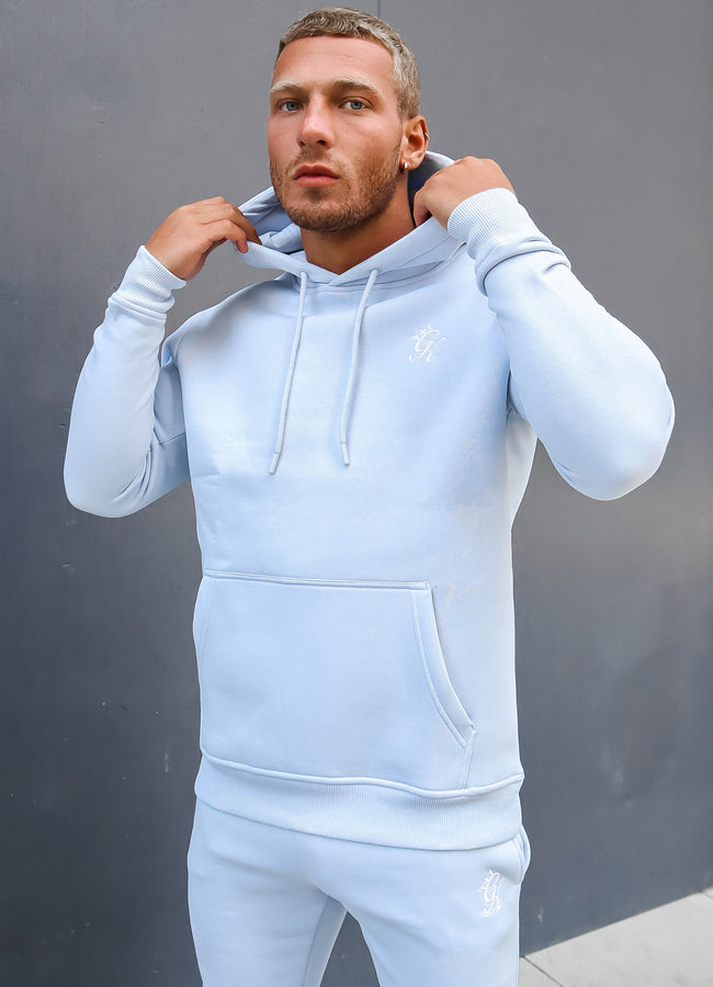 Gym King Basis Overhead Hoodie - Soft Blue