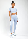 Gym King Sport Aura Crop Tee - Washed Blue