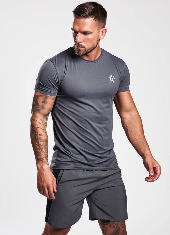 Gym King Sport Energy Short Sleeve T-Shirt - Turbulence Grey