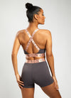Gym King Sport Impact Cycle Short - Soft Slate/Peach