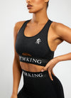 Gym King Sport Results Keyhole Bra - Black Marl