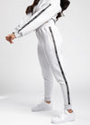 Gym King Taped Jogger - Snow Marl