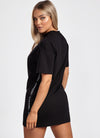 Gym King Taped Dress - Black