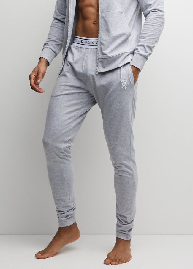 Gym King Taped Jersey Jogger - Grey Marl