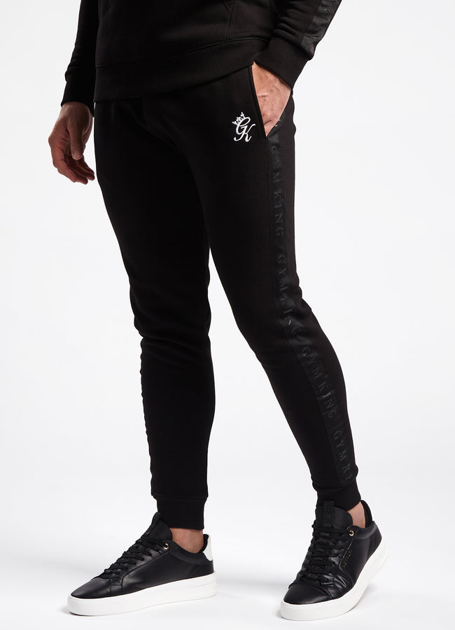 Gym King Tape Text Jogger - Black