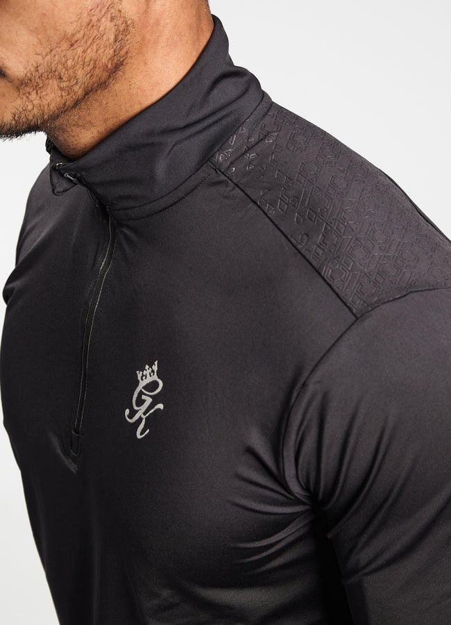 Gym King Bryce 1/4 Zip Funnel - Black