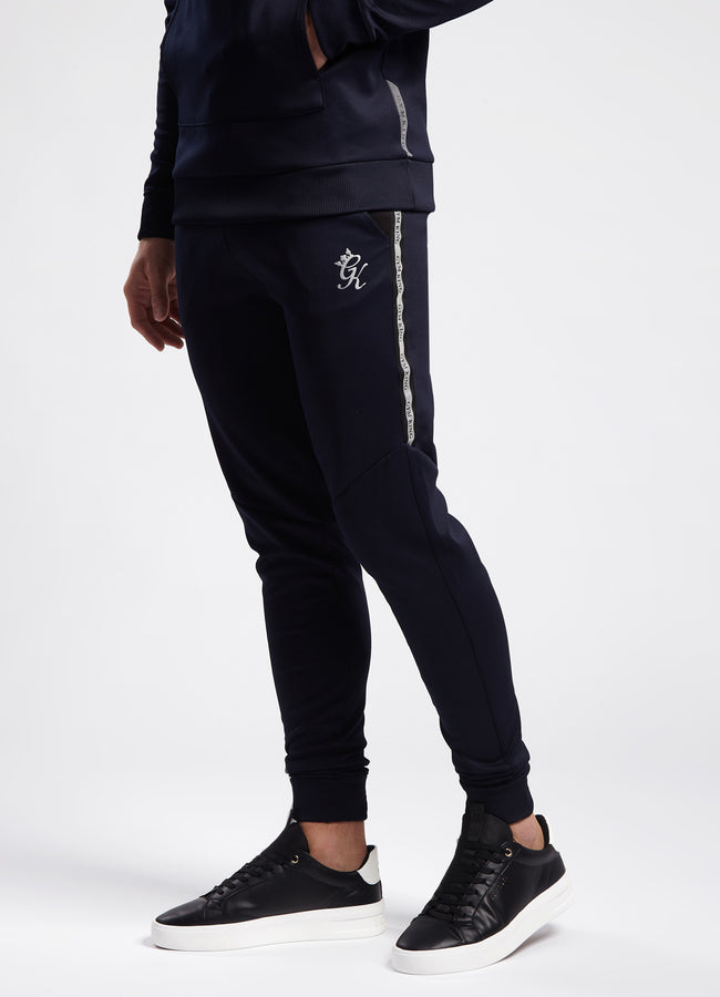 Gym King Lombardi Poly Pant - Navy/Black