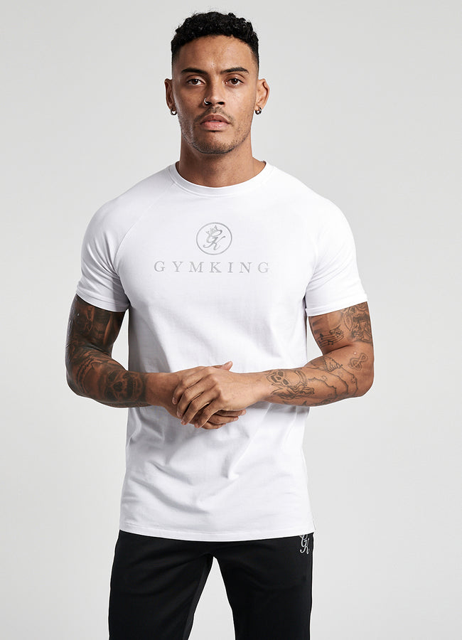Gym King Sport Pro Logo Tee - White