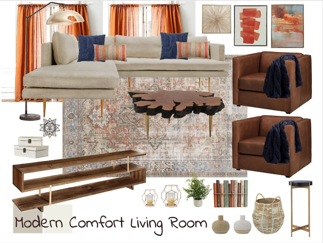 ELDesigns Modern Comfort Living Room Style Board