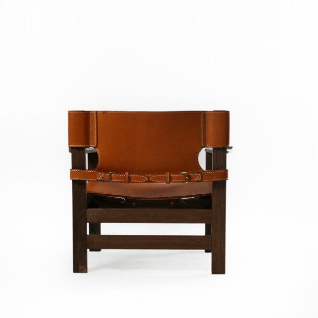leather belt seat and back chair