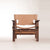 leather seat modern lounge chair