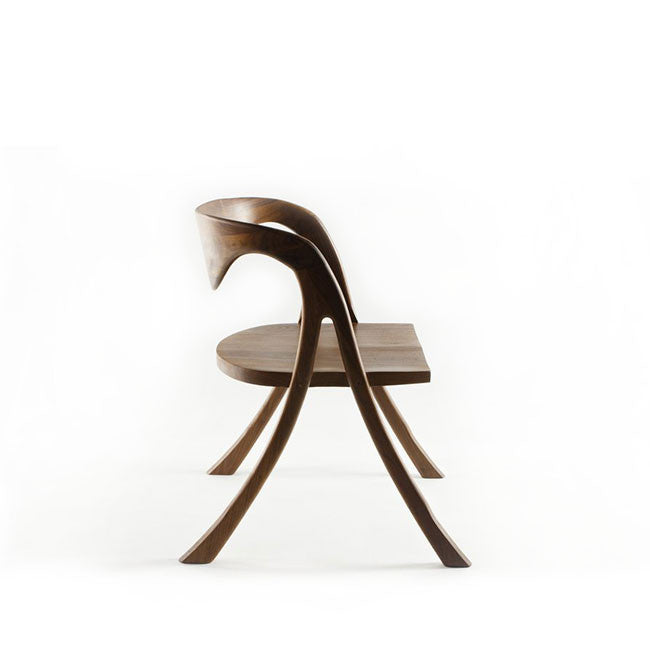 modern dining chair with solid walnut