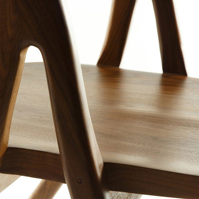 solid American Walnut dining chair