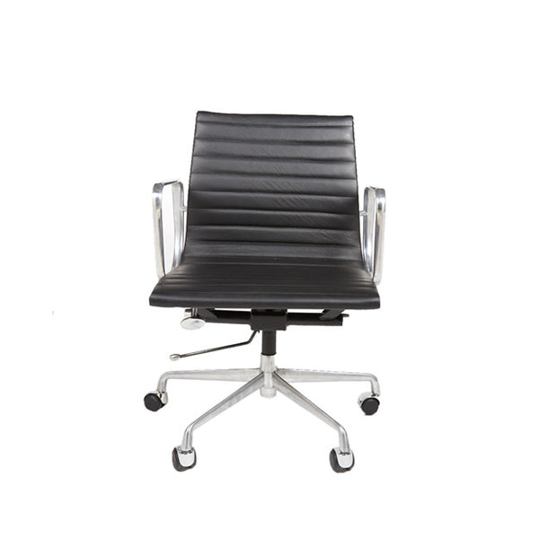 Office Chair Classic Black Leather