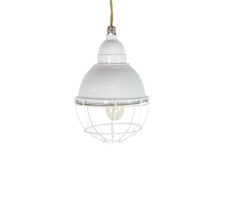 Enamel Round Cage Ceiling Light
