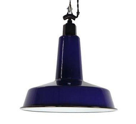 Enamel Platter Ceiling Light