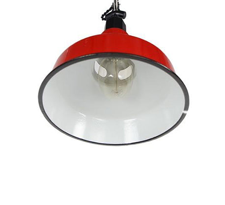 mid century red ceiling light