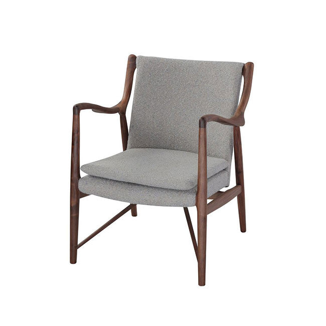 modern walnut armchair