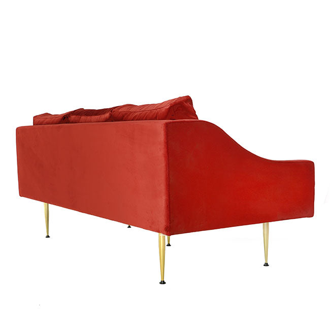 modern sofa with spice velvet