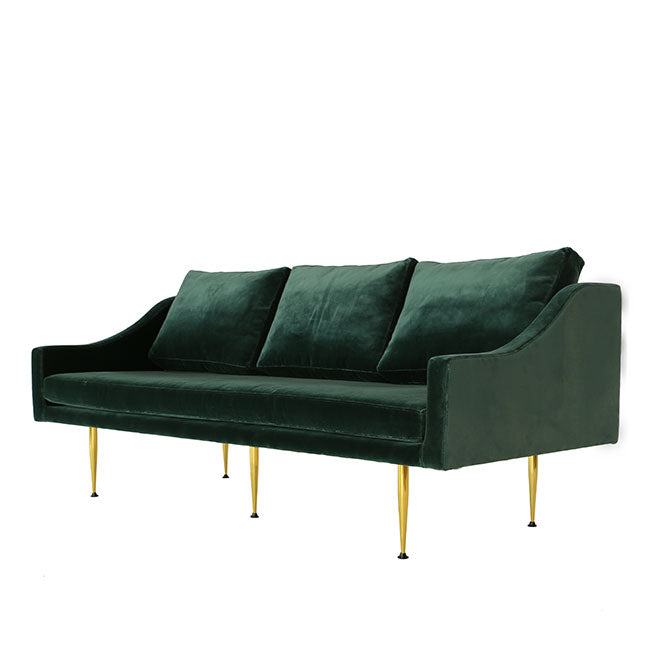 3 seats sofa with teal velvet