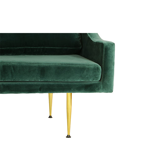 long sofa with teal velvet