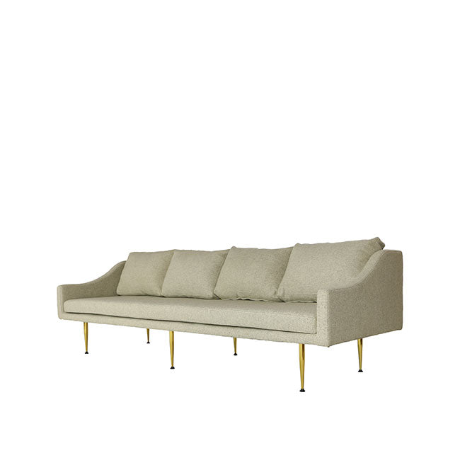 4 seat sofa with beige fabric