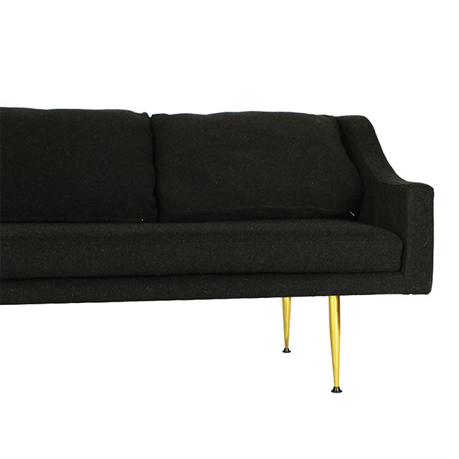 modern sofa with charcoal fabric