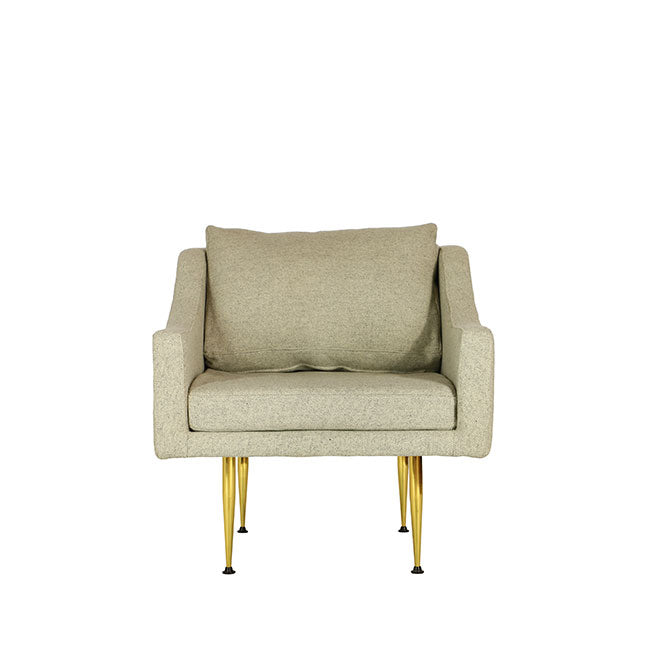 modern lounge chair beige