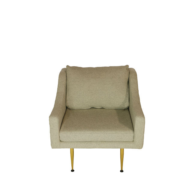 beige modern lounge chair