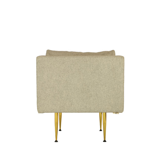 contemporary style beige armchair