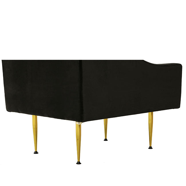 contemporary velvet lounge chair