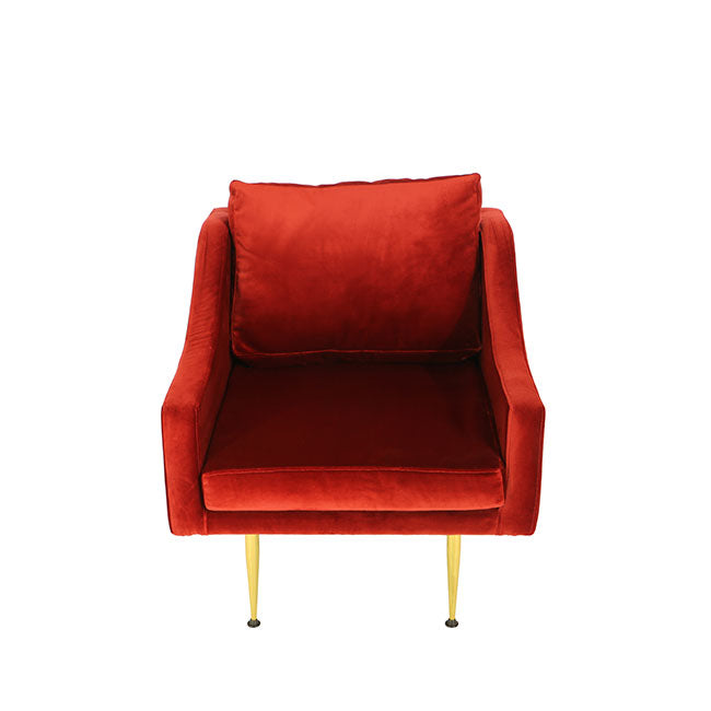 modern spice red lounge armchair
