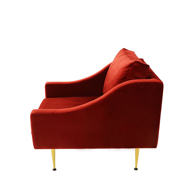 modern velvet lounge chair